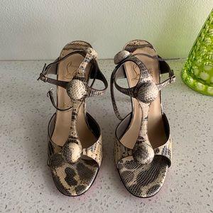 Christian Louboutin Spartenvol lizard sandals